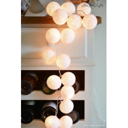 Girlanda 35 kul PURE WHITE Cotton Ball Lights