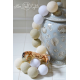 Girlanda 20 kul WHITE GLOW Cotton Ball Lights