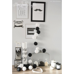 Girlanda 10 kul BLACK&WHITE Cotton Ball Lights